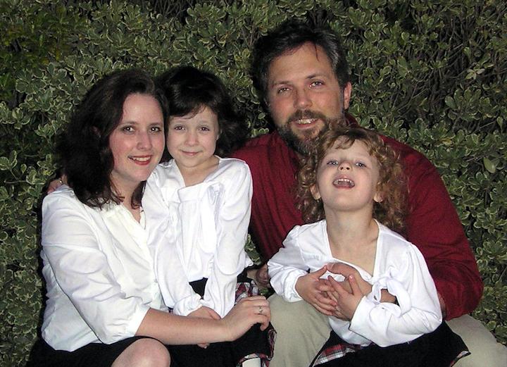 Eric Herman, Roseann Endres, and kids