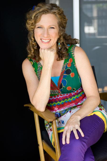 Laurie Berkner sitting in chair