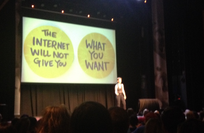 "Slide (""The Internet Will Not Give You What You Want"") from Lucy Bellwood's 2016 XOXO talk"