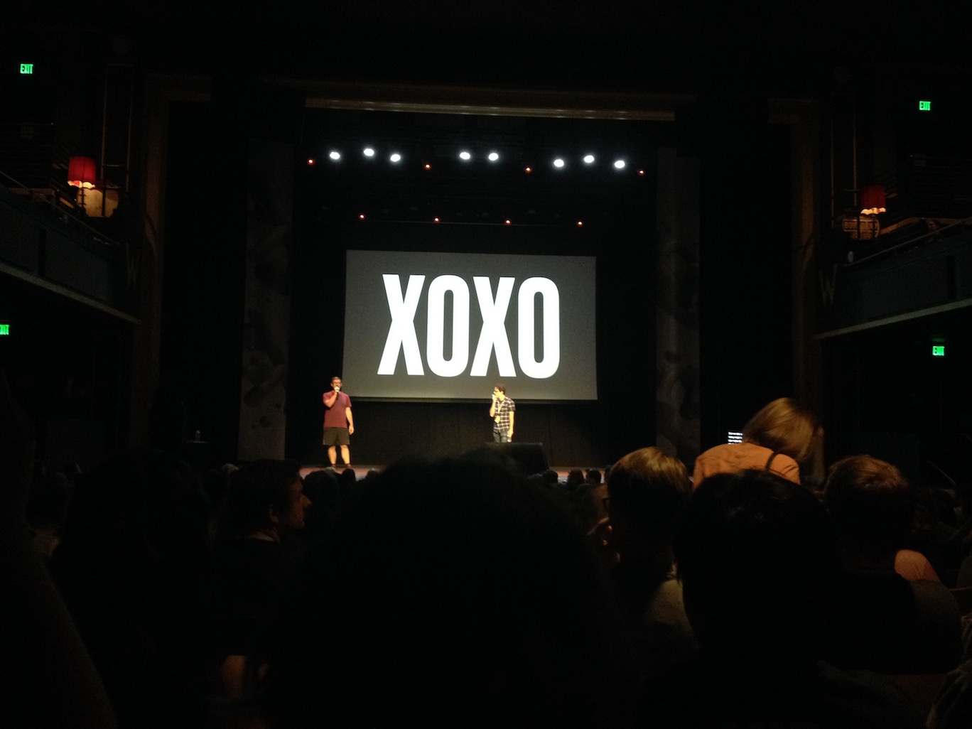 Andy McMillan and Andy Baio banter at the end of XOXO 2016