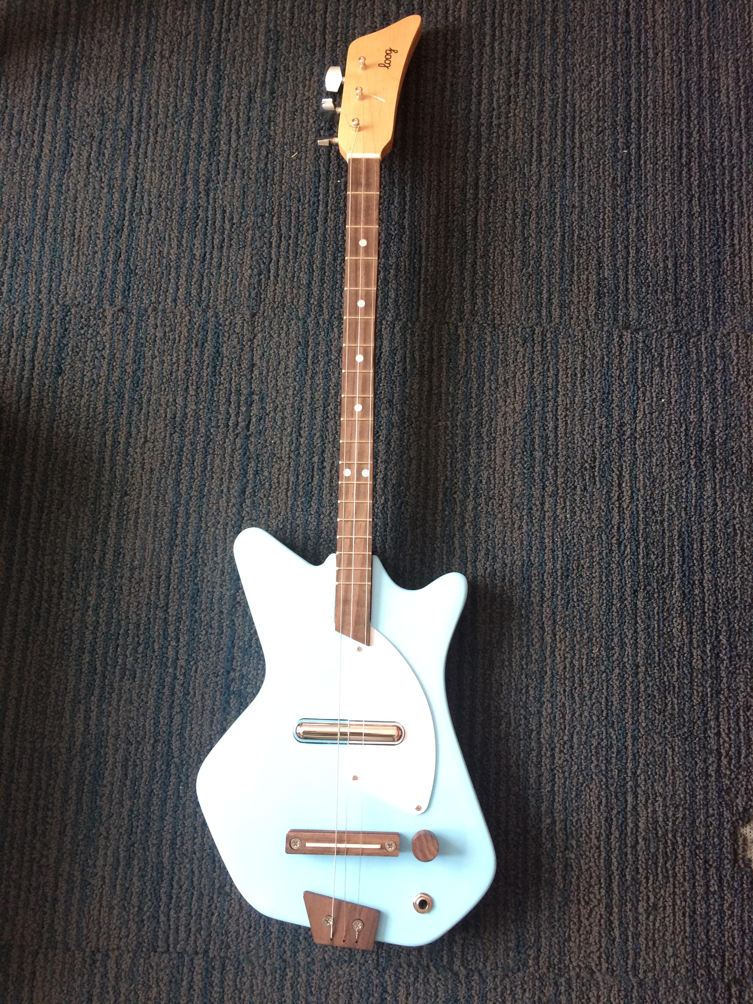 Electric Loog guitar in blue