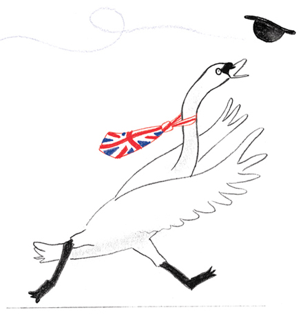One of  10 things I drew that happened OUTSIDE of 'The Queen's Hat' to celebrate the countdown to the book's publication.
