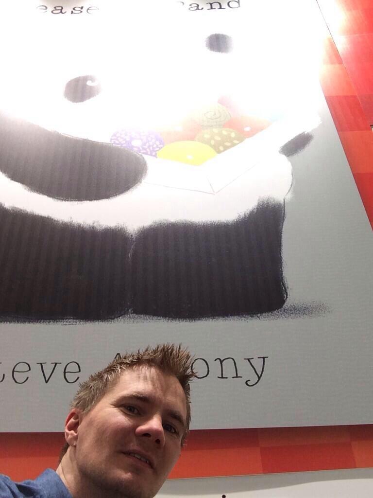 Anobligatory selfie with Mr Panda.