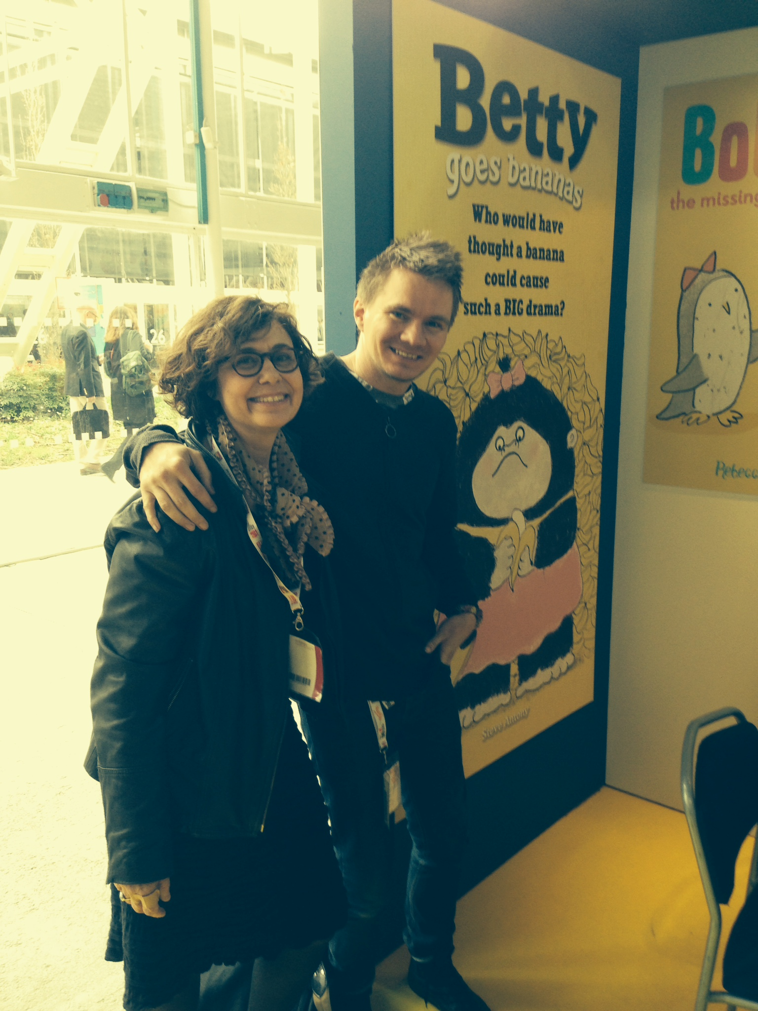 A chance meeting with 'Betty's' lovely US publisher was a perfect photo opportunity!