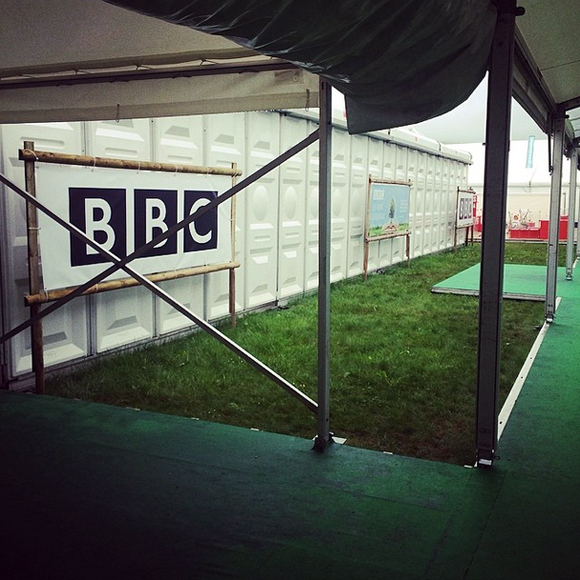 The BBC were next to my tent.