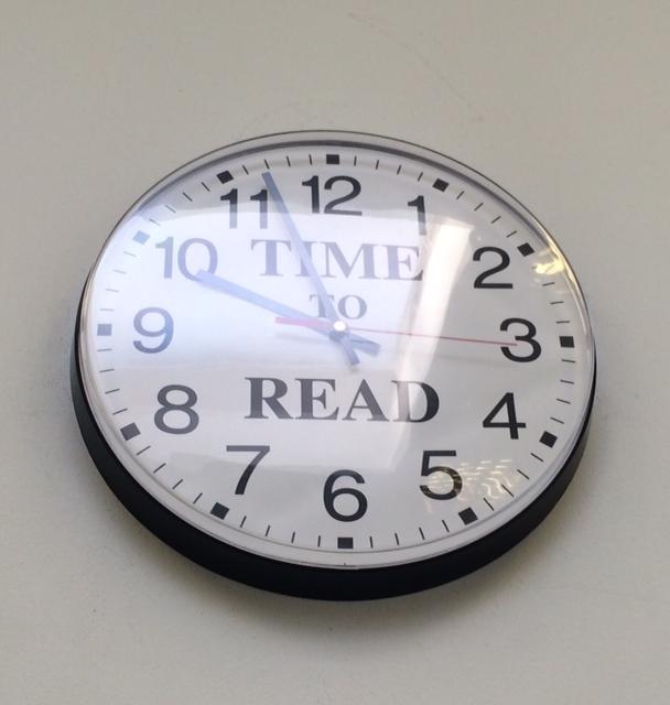 A cool clock in Gillingham's Community Hub.