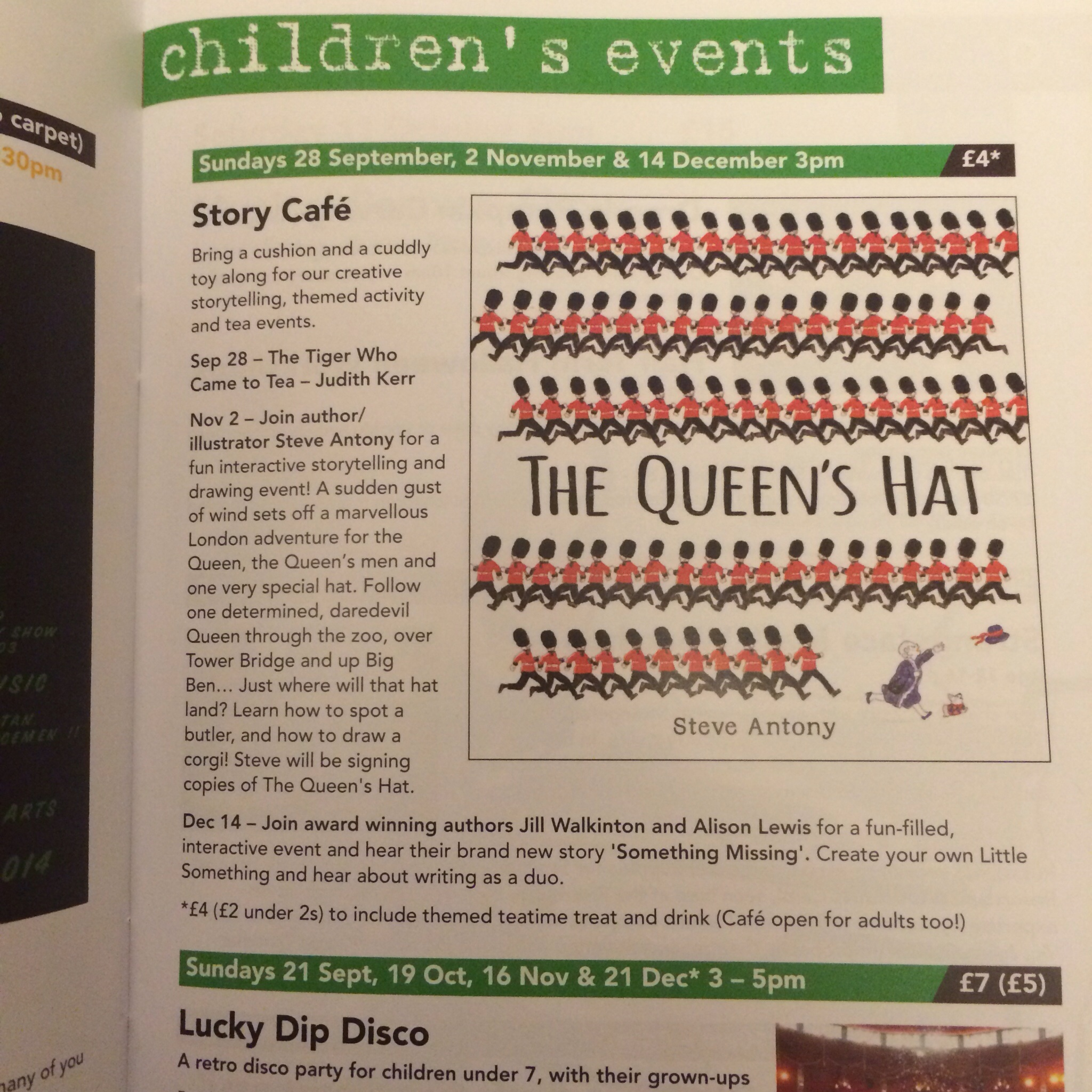 Inside the events magazine.