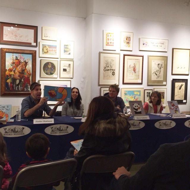 Jimbo Matison, Susan Verde, me & Stephanie Ruble at Books of Wonder