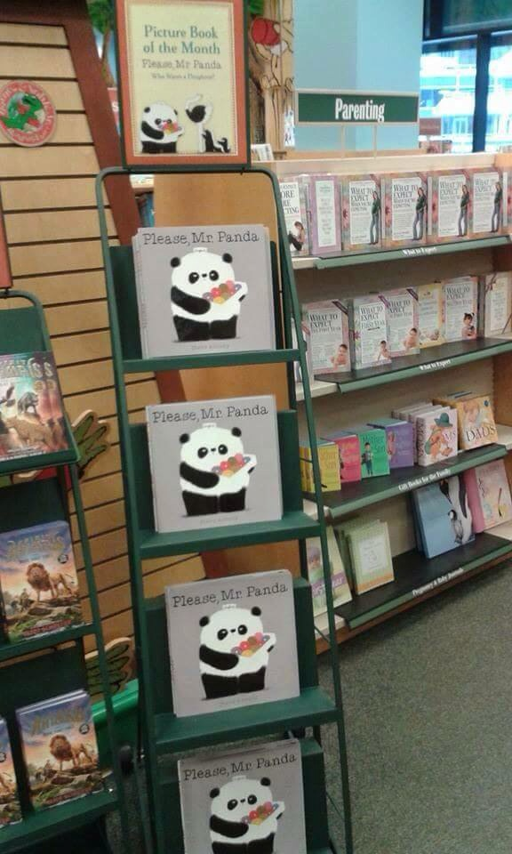 The book features on a stepladder in every B&N this month.