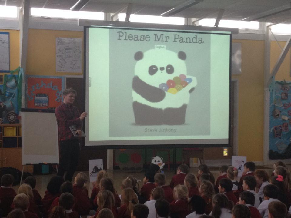 Reading at St Lukes Primary School.