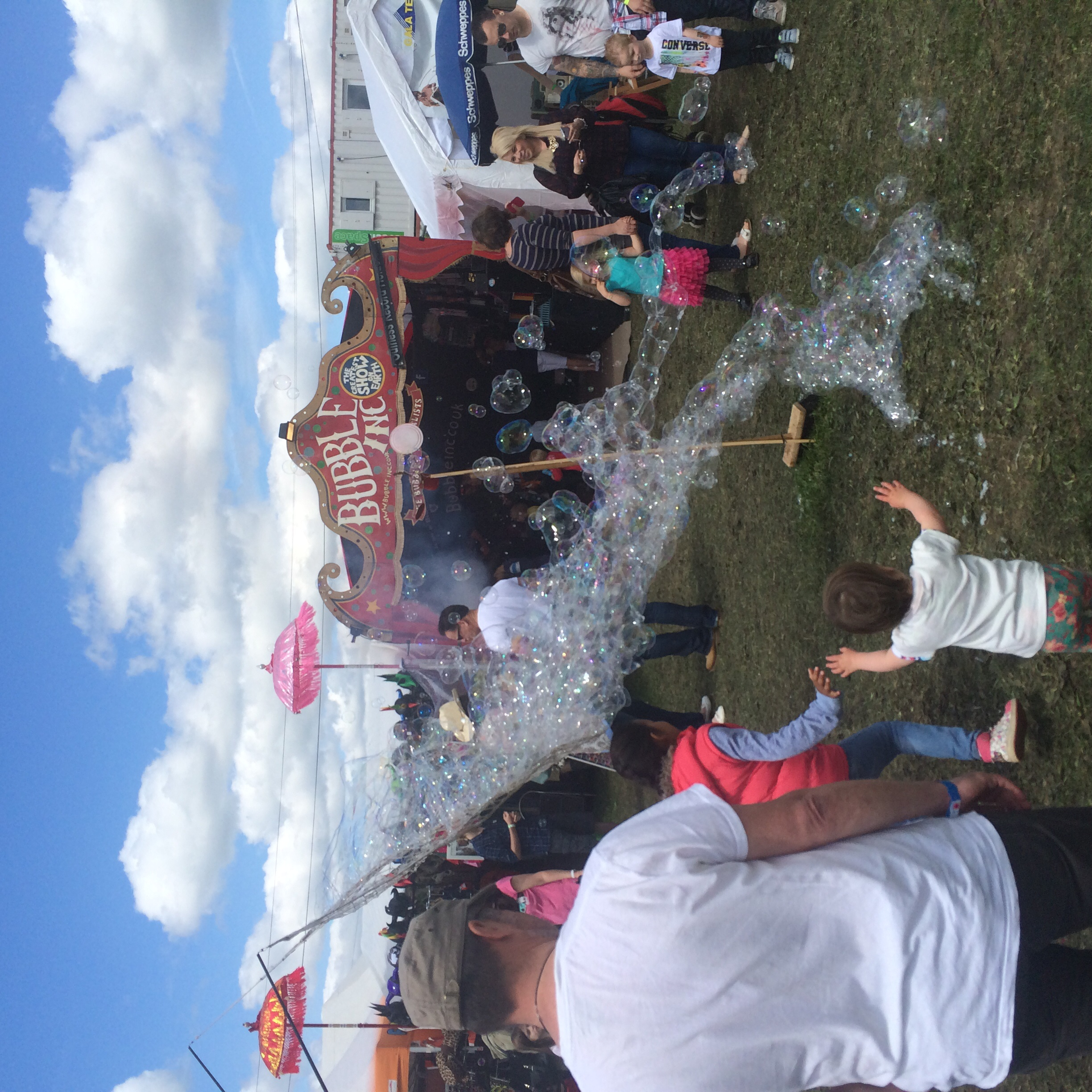 And there were bubbles, too.