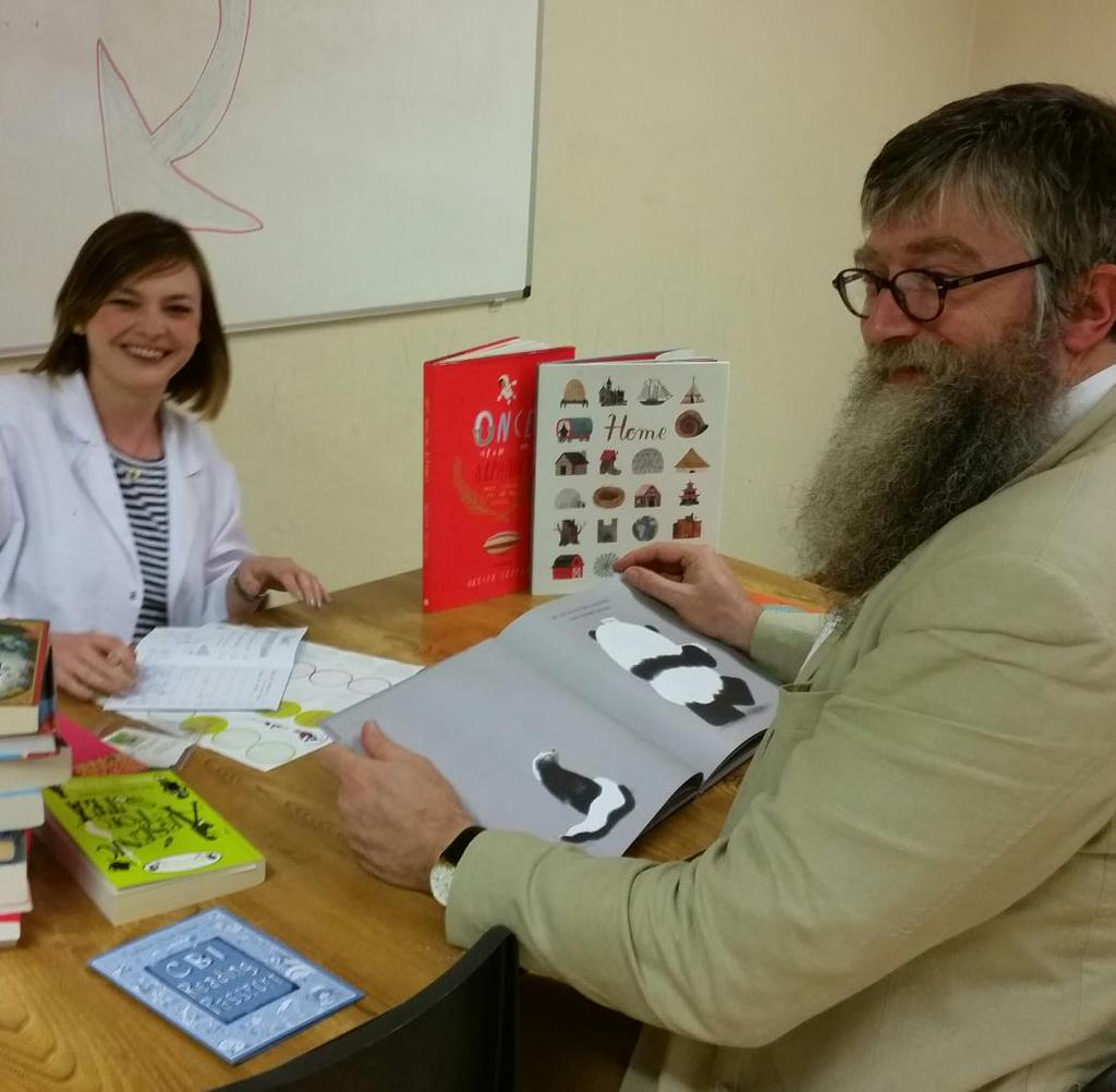 While at the festival,  Philip Ardagh  showed me this wonderful photo of him with Book Doctor (and  children's book enthusiast ) Kim Harte and PLEASE MR PANDA,taken at Children's Books Ireland for  Writer's Week. Thanks, Philip, for sharing this photo.