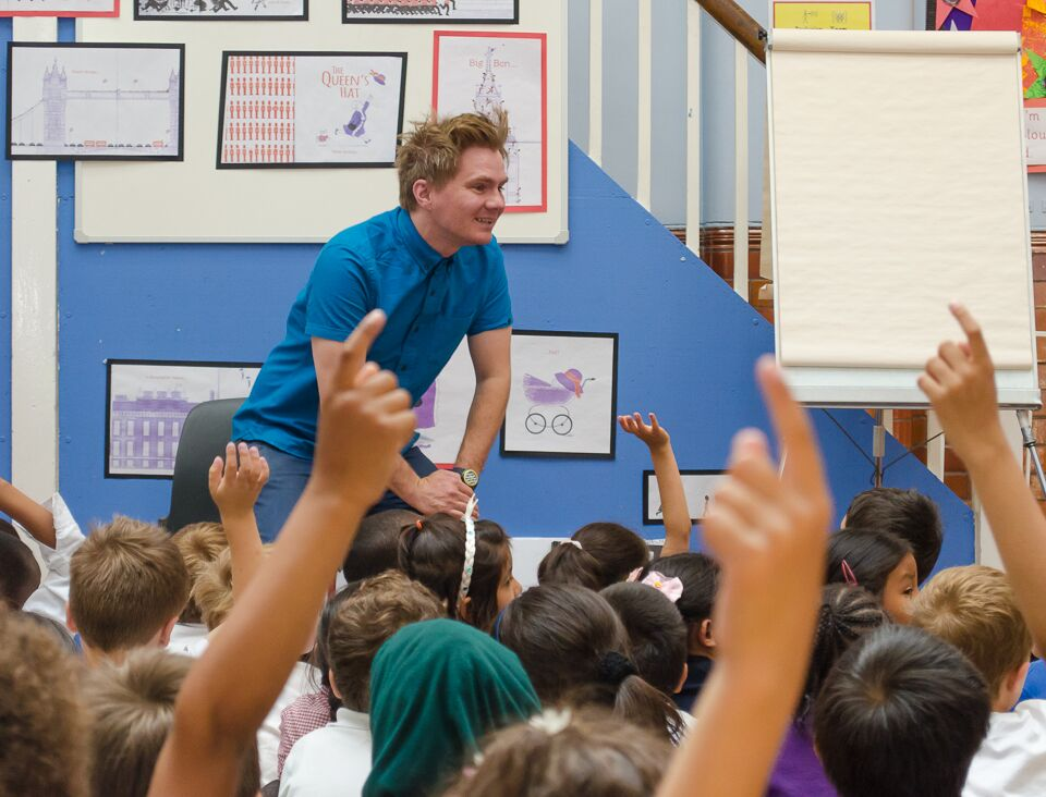 The pupils had lots of questions! (Photo by   Emerson Wimsey)