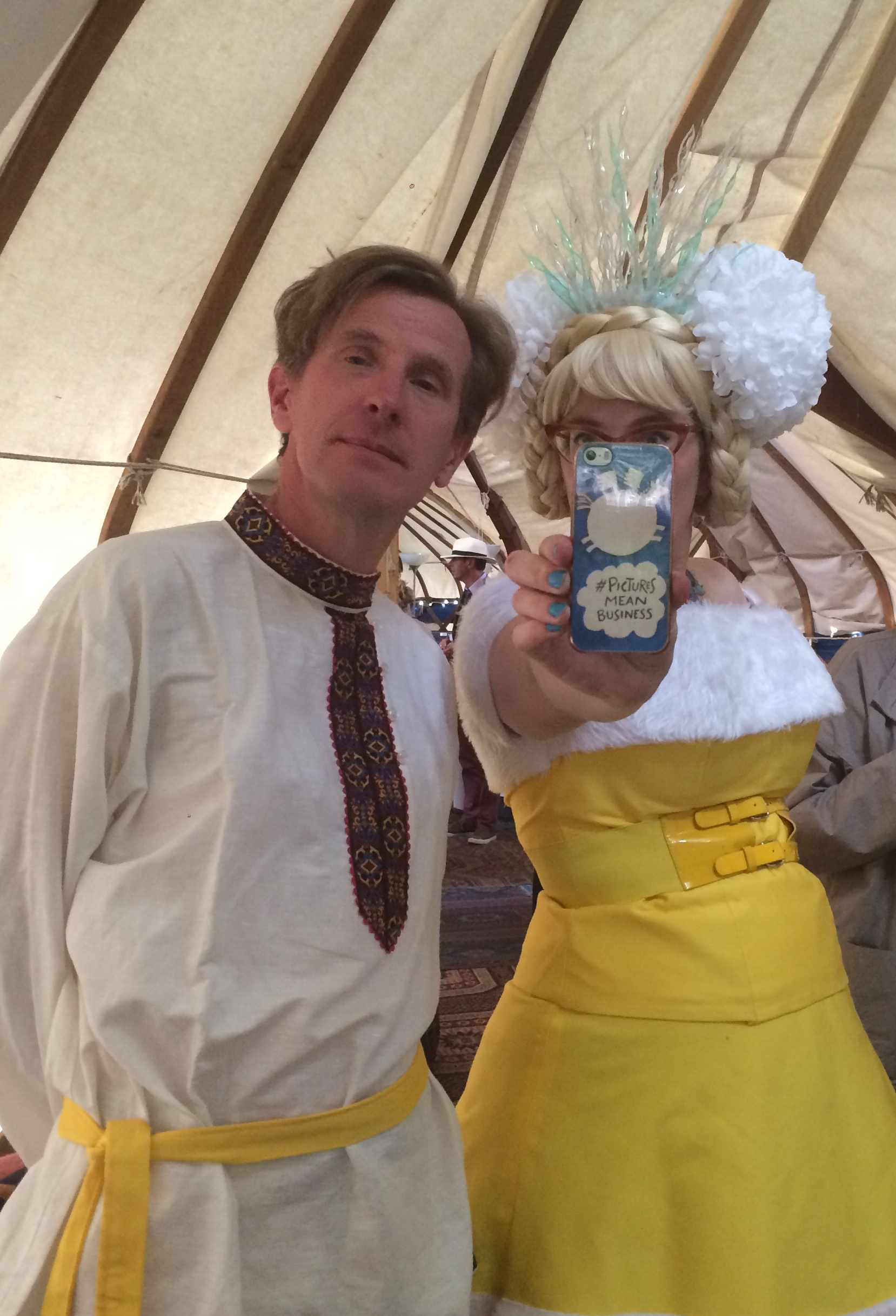 In the yurt with the dynamic duo, Philip Reeve and Sarah McIntyre