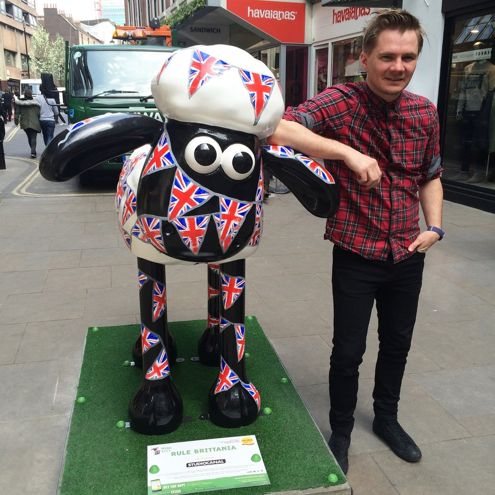 to painting Shaun the Sheep (which fetched £15000.00 for  charity )...