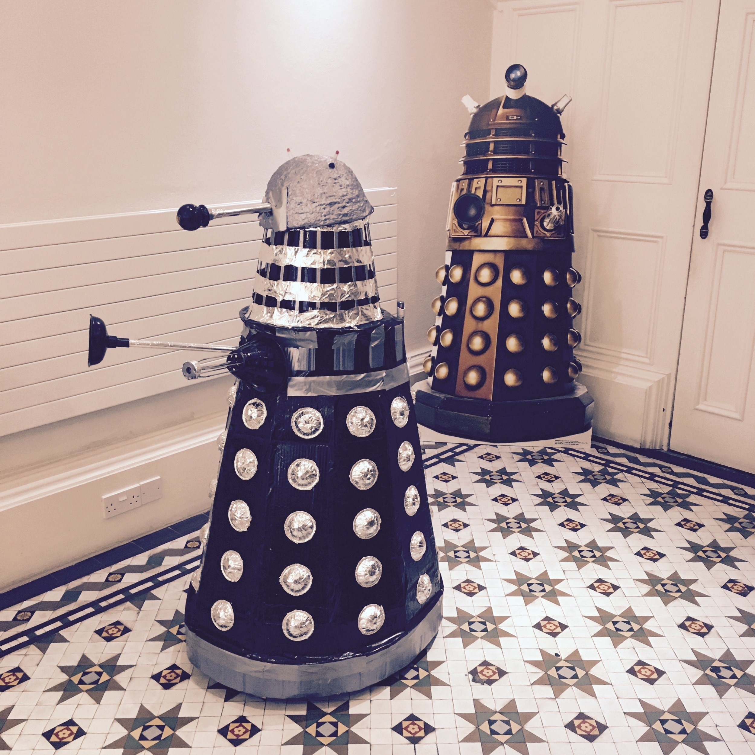 Daleks had invaded the library.