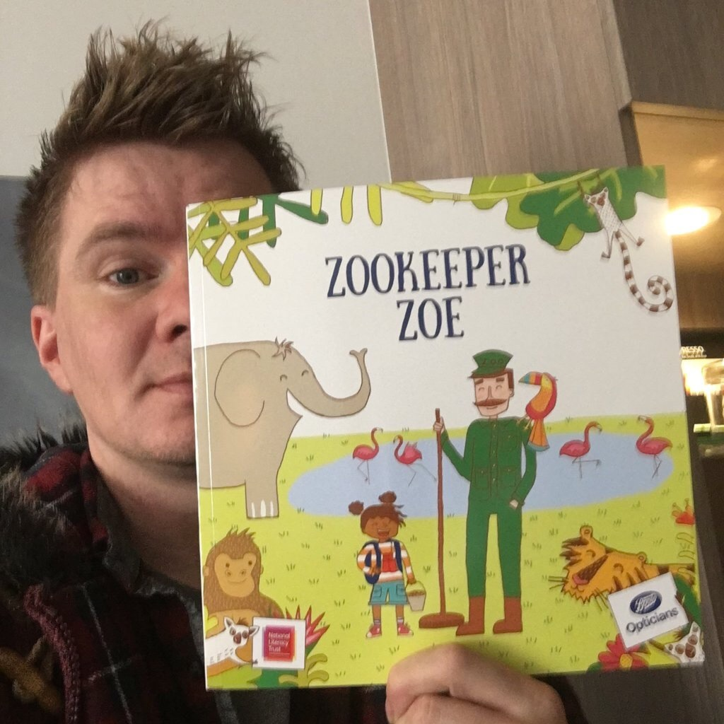 I attended a fundraising event held by The National Literacy Trust and Boots, where I picked up Zookeeper Zoe, a book to help children with their sight.