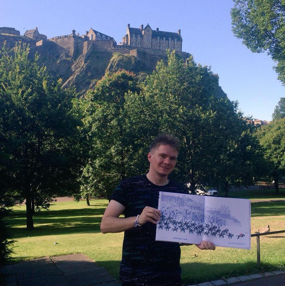 Edinburgh Castle features in the book