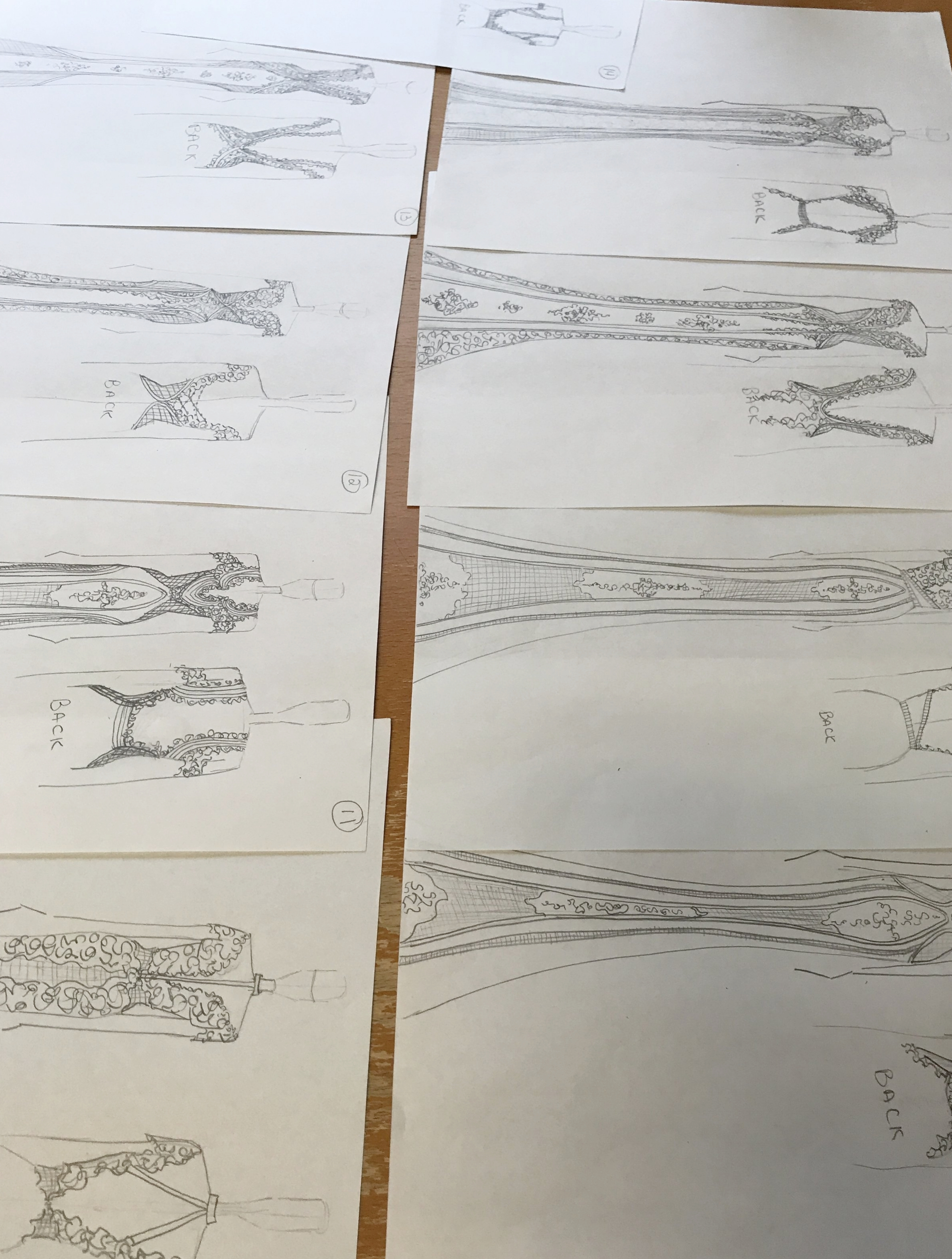 Sketches! - We create the sketches based off of our meeting and inspiration and your big day.