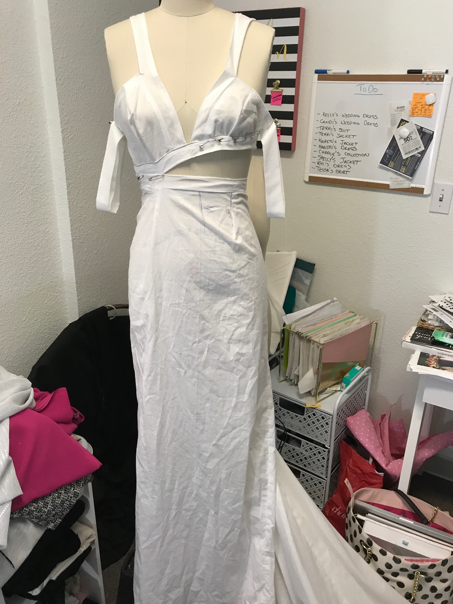 More Mock ups - We continue to work in muslin to get the right fit! Then we move to the fabric!!