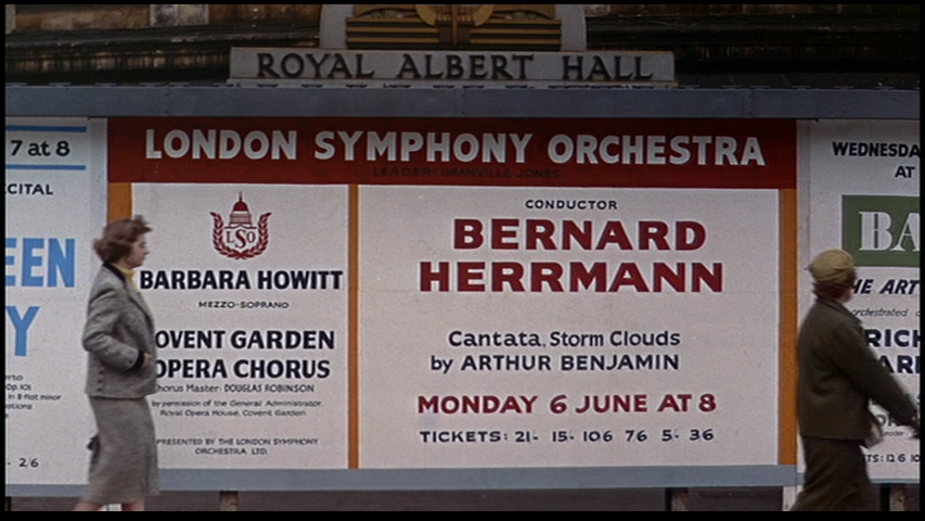 Bernard Herrmann received credit for conducting the Storm Cloud Cantata in The Man Who Knew Too Much 1956