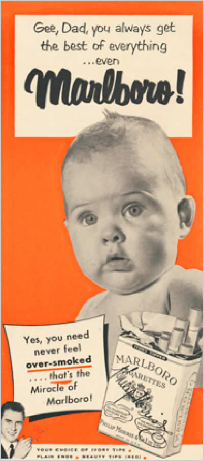 Babies used to be used to advertise cigarettes