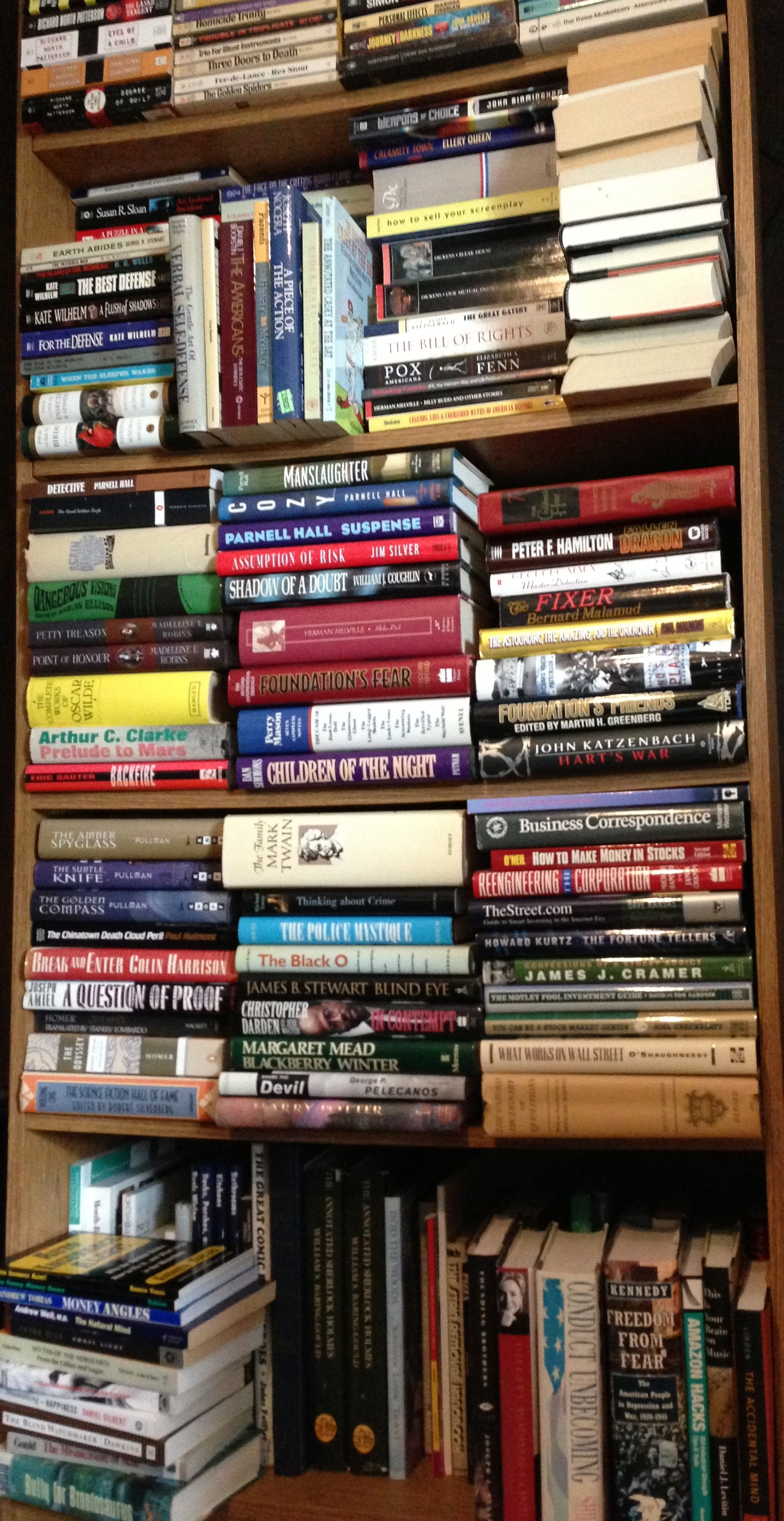 Here are fiction and other books.