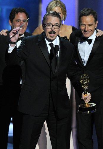 Vince Gilligan Accepting an Emmy Award