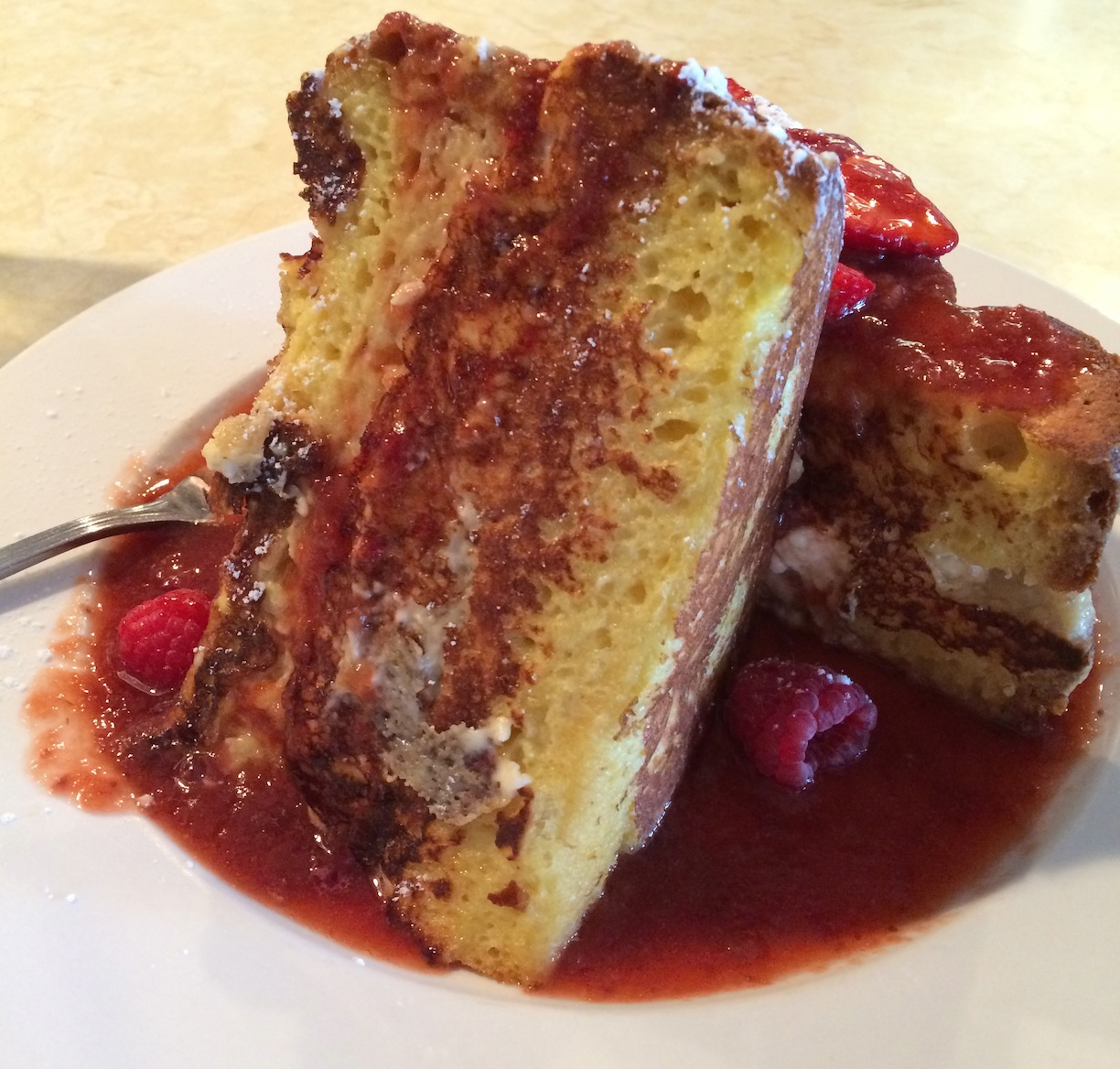 Skylar's 'Have an A1 Day' Stuffed French Toast at Sabrina's Cafe