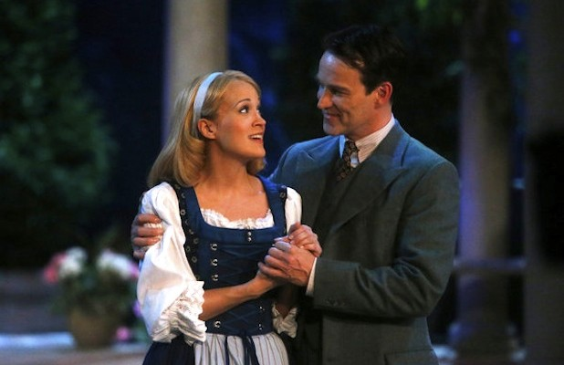 Carrie Underwood and Stephen Moyer as Maria and Captain von Trapp