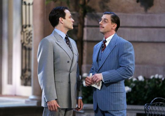Stephen Moyer and Christian Borle as von Trapp and Max