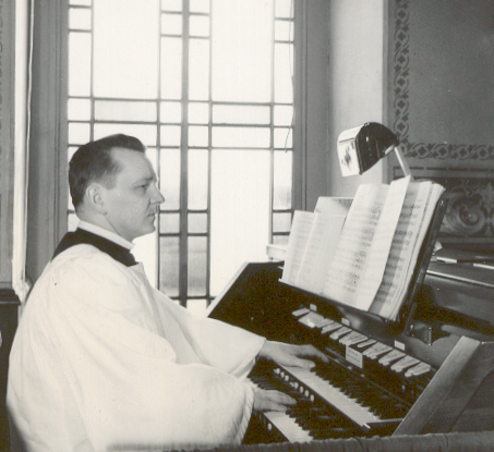 My uncle Curtis was also a church organist. I think this picture was taken at the Lutheran church on Route 422 just outside Stouchsburg, PA.