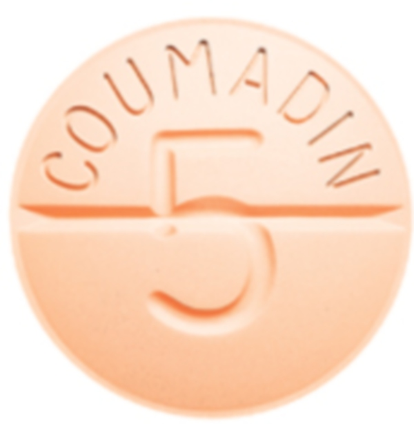 A Coumadin tablet
