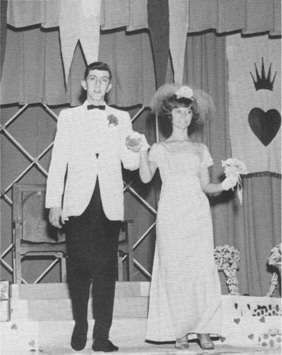 Skeet and Steph at the Valentine's Day dance 1967