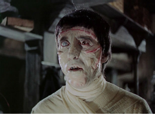Christopher Lee as Frankenstein's creation