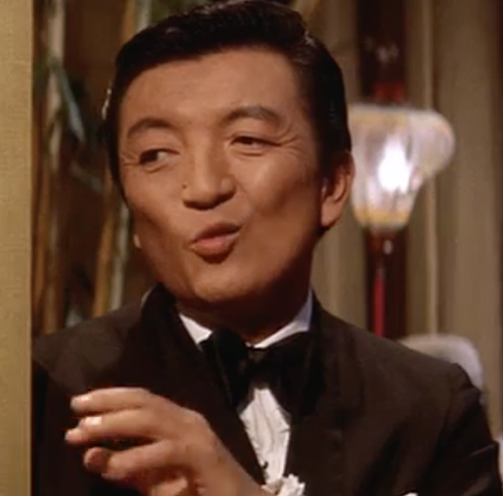 Jack Soo as nightclub operator Sammy Fong. You may remember him from Barney Miller.