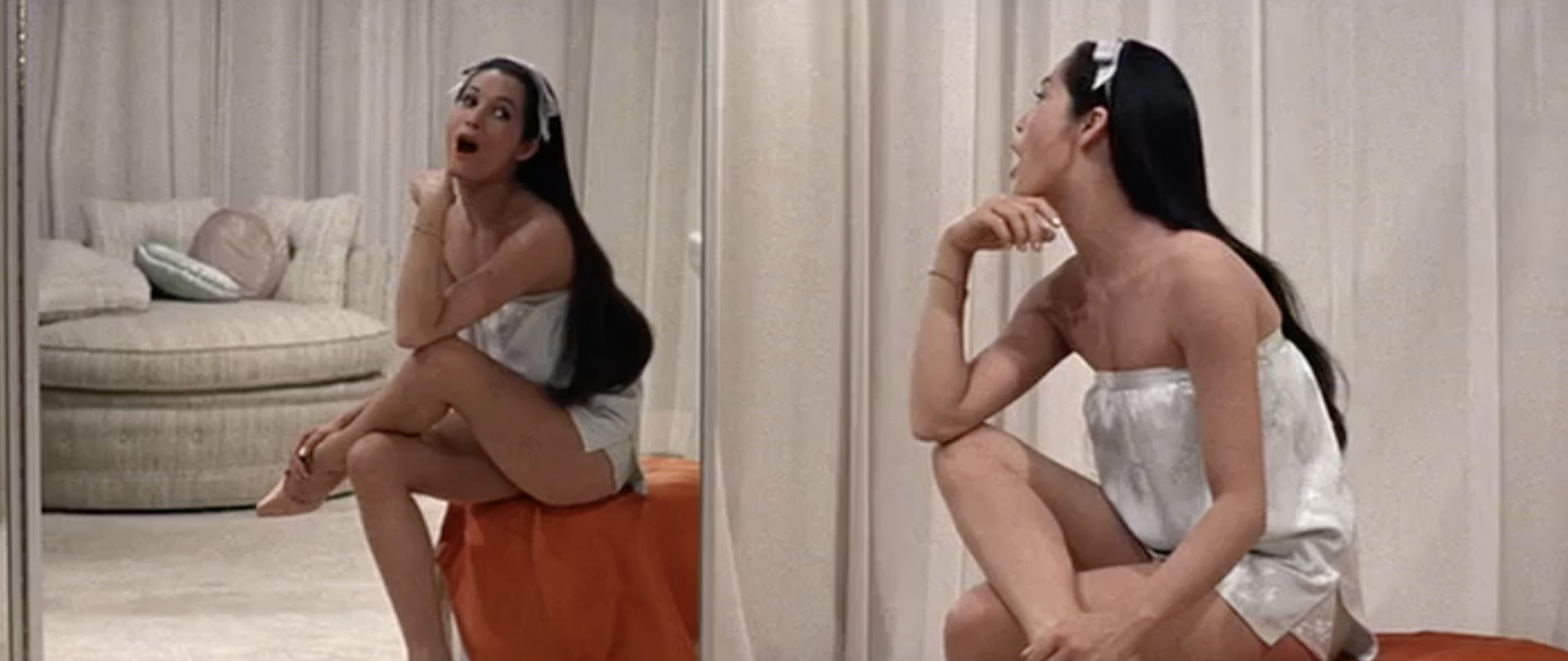 Nancy Kwan as Linda Low enjoys being a girl