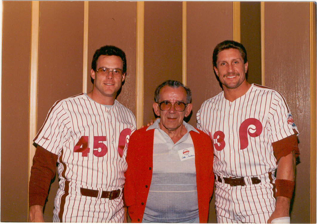 Dave Palmer and Lance Parrish flanking my father