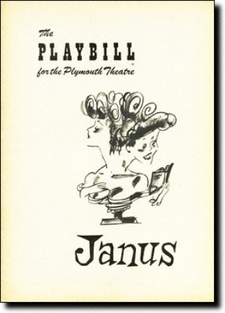 The cover for the Playbill for the original production of Janus