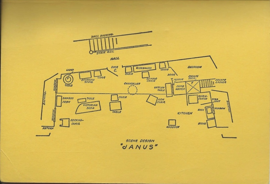 The set design for Janus from the script