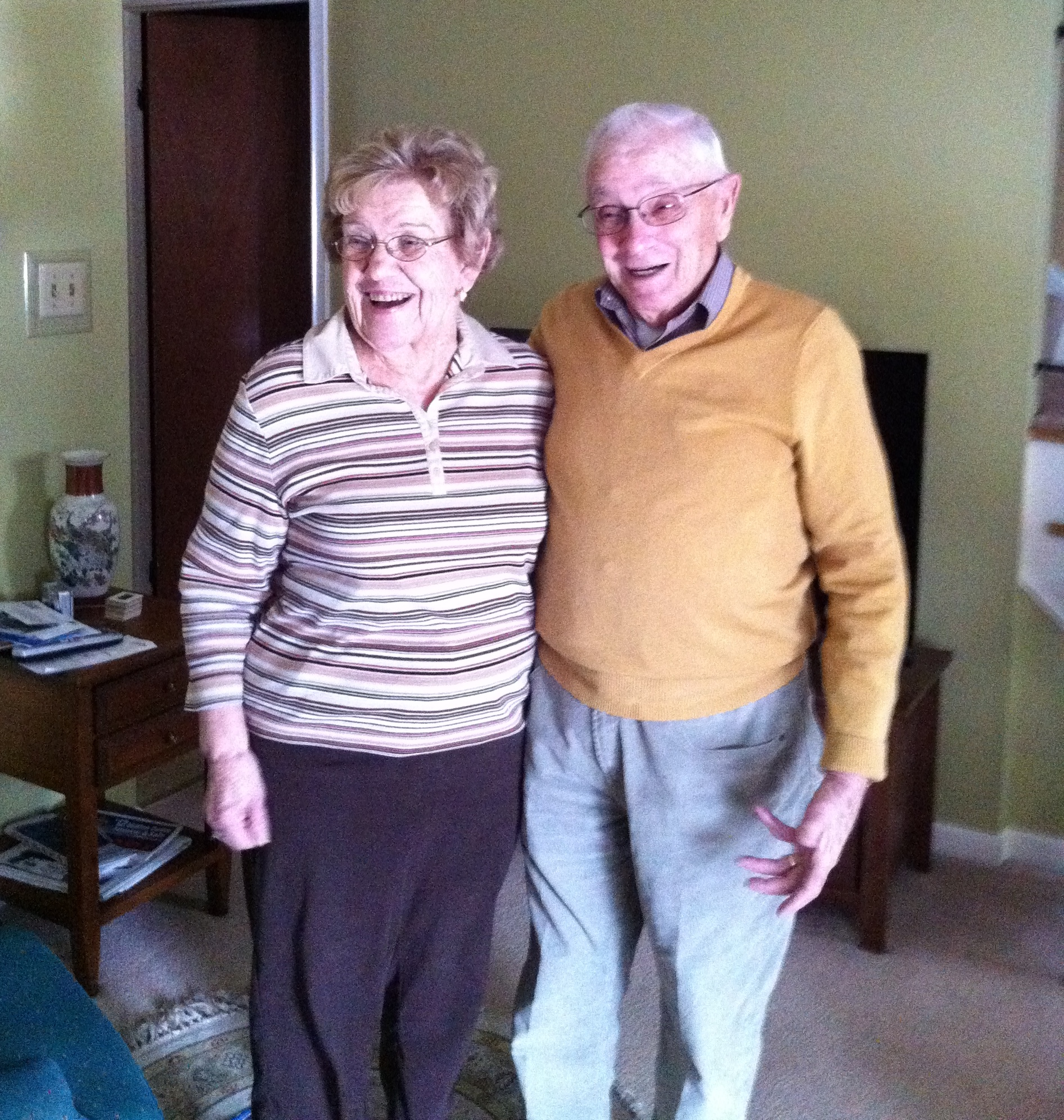 Here's a photo of Jane and Allen taken in 2011