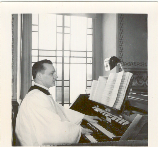 Curtis Troutman as organist at Christ Lutheran Church, Stouchsburg