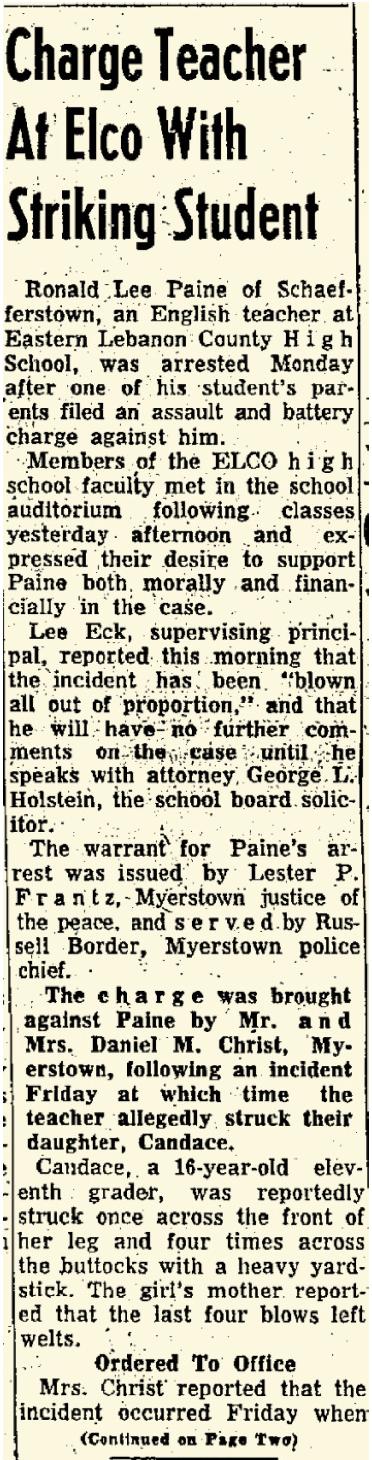Lebanon Daily News April 28, 1964 — p 1