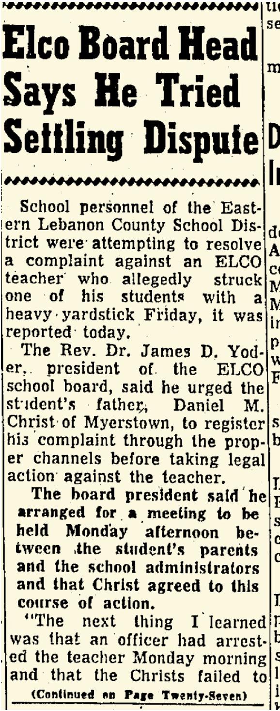 Lebanon Daily News April 29, 1964 — p 1