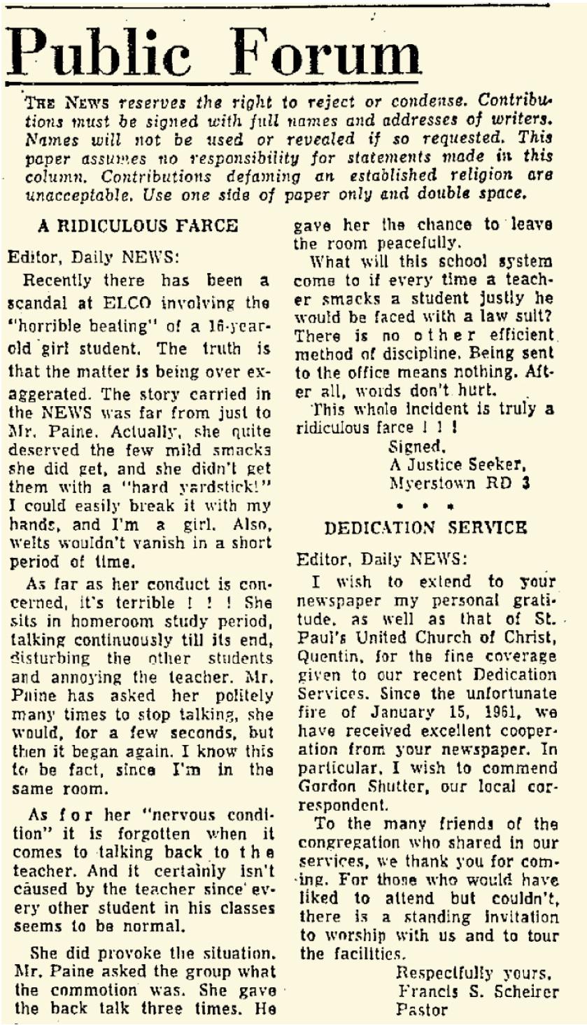 Lebanon Daily News May 1, 1964 — p 4