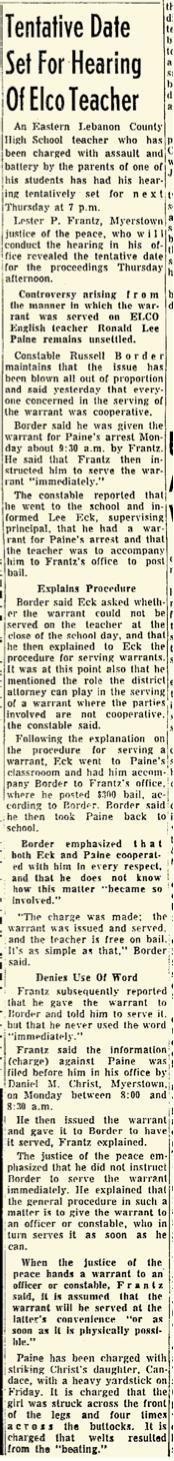 Lebanon Daily News May 1, 1964 — p 24