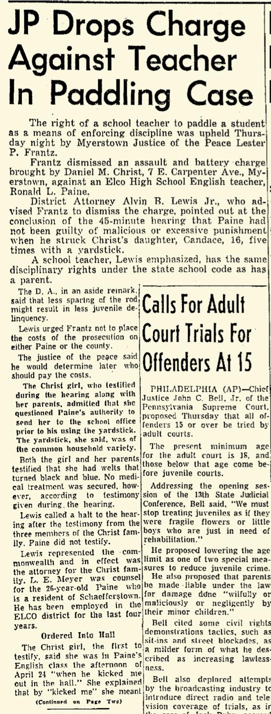 Lebanon Daily News May 8, 1964 — p 1