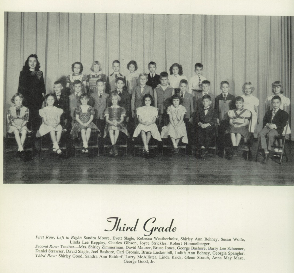 Womelsdorf Yearbook 1952 3rd Grade Bashores.png