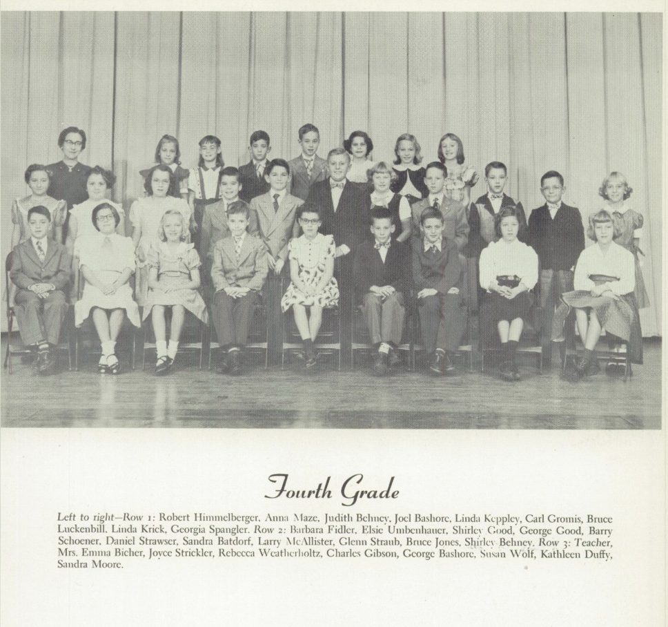 Womelsdorf Yearbook 1953 4th grade Bashores.png