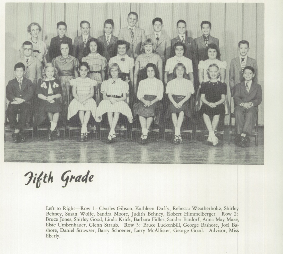 Womelsdorf Yearbook 1954 5th Grade Bashores.png